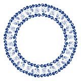 Blue round frame Stock Image