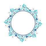 Blue round frame Stock Images