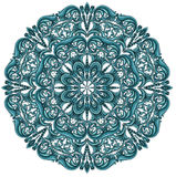Blue round lace pattern Stock Images