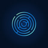 Blue round maze colorful icon Royalty Free Stock Image