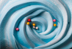 Blue round merengue on a stick Royalty Free Stock Image