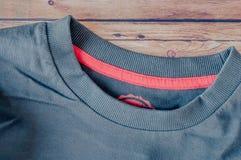 Blue round neck T-Shirt Stock Photo