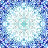 Blue round ornament Royalty Free Stock Image