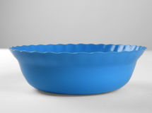 Blue round plastic deep dish Stock Photography