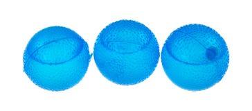 Blue round plastic ice cubes Stock Photo
