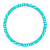 Blue round rope frame Royalty Free Stock Photos