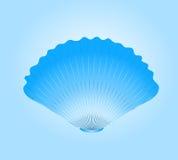 Blue round sea cockleshell. Vector. eps 8 Royalty Free Stock Photos