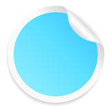Blue round sticker Stock Photography