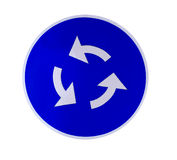 Blue roundabout sign Royalty Free Stock Photography