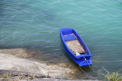 Blue row boat Royalty Free Stock Photos
