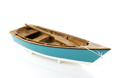 Blue rowing boat Royalty Free Stock Photo