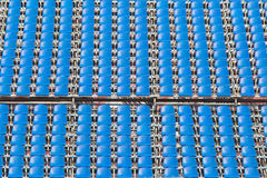 Blue rows of seats Royalty Free Stock Photography