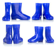 Blue rubber boots for kids Royalty Free Stock Photos