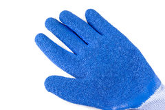 Blue rubber gloves on a white background Stock Image