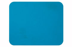 Blue rubber mouse pad Stock Image