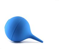 Blue rubber pear (clyster) Royalty Free Stock Photography