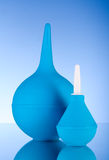 Blue rubber pear. Clyster. Stock Photography
