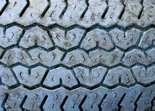 Blue rubber v-shape tread Royalty Free Stock Images