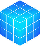 Blue rubik's cube Royalty Free Stock Photos
