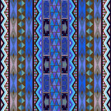 Blue rug design. Colored texture with african traditional ornaments Royalty Free Stock Image