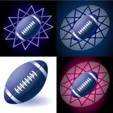 Blue Rugby ball Stock Image