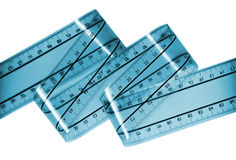 Blue ruler film Stock Images