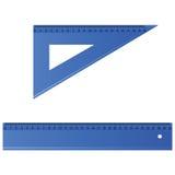 Blue ruler vector illustration. Blue ruler vector art illustration on white background Royalty Free Stock Photo