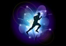 Blue runner Stock Image