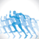 Blue runner man Royalty Free Stock Photos