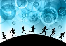 Blue runners Royalty Free Stock Photos