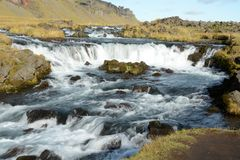 Free Blue Running River In Iceland On A Sunny Day Royalty Free Stock Images - 160809019
