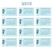 2016 blue russian calendar Stock Photos