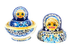 Blue russian dolls Royalty Free Stock Photos