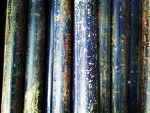 Blue rust pipe. A blue pipe got rust royalty free stock photo