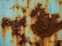 Blue Rust Texture. On blue background Royalty Free Stock Image