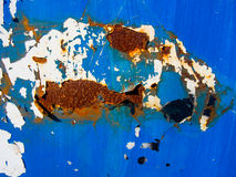 Blue Rust Texture. Rust texture on blue and white background Stock Image