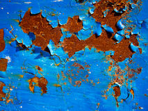 Blue Rust Texture. Rust texture on blue and white background Royalty Free Stock Photo