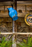 The blue rusted mug Stock Image