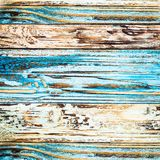 Blue rustic Board walls with remnants of paint royalty free stock photography