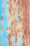 Blue rusty metal Stock Image