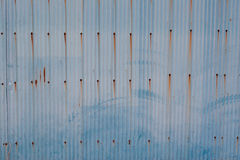 Blue rusty metal wall Royalty Free Stock Image