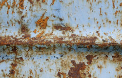 Blue rusty mettalic surface background. Royalty Free Stock Photo