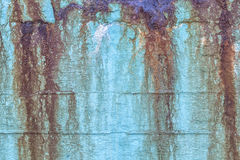 Blue rusty and stained background Stock Images