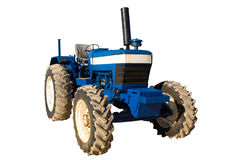 Blue rusty tractor Royalty Free Stock Photos