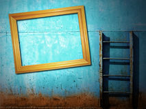 Blue rusty vintage background Royalty Free Stock Image