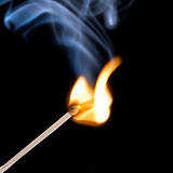 Blue safety matches Stock Photography