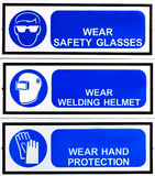 Blue safety signs board. A blue safety signs board Stock Photography