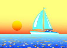 Blue sailboat Royalty Free Stock Images