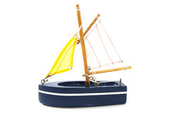 Blue sailboat Royalty Free Stock Photography