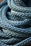 Blue Sailing Rope. On the River Thames, London, England UK Stock Images
